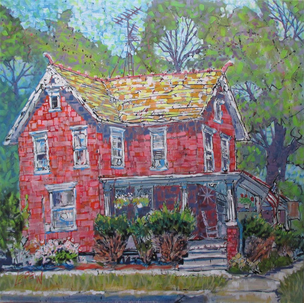 """""""Red Beauty by Larry Lerew 150704"""" original fine art by Larry Lerew"""