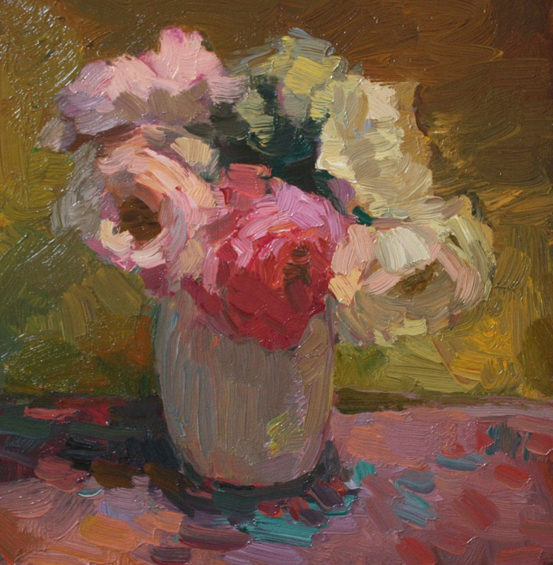 """Still Life with Roses"" original fine art by Kathryn Townsend"