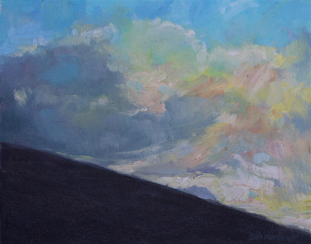 """Diamond Head at Daybreak"" original fine art by Allison Doke"