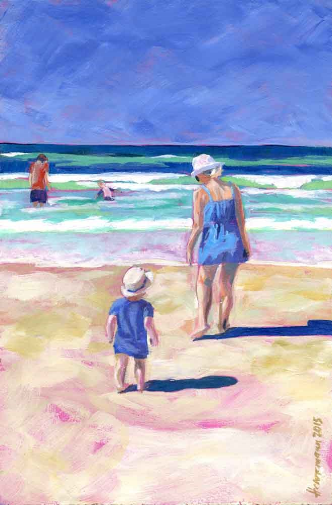 """Beach Baby"" original fine art by Eileen Hennemann"