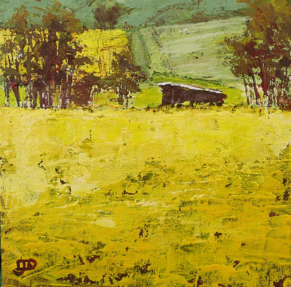 """Canola Road"" original fine art by Leanne Owen"