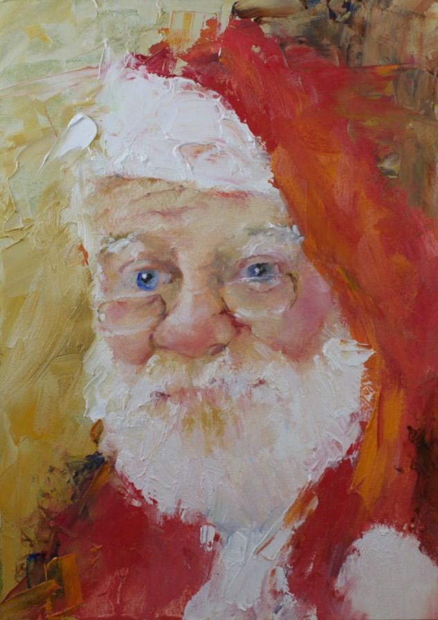 """Santa #3 (2014)"" original fine art by Sue Churchgrant"