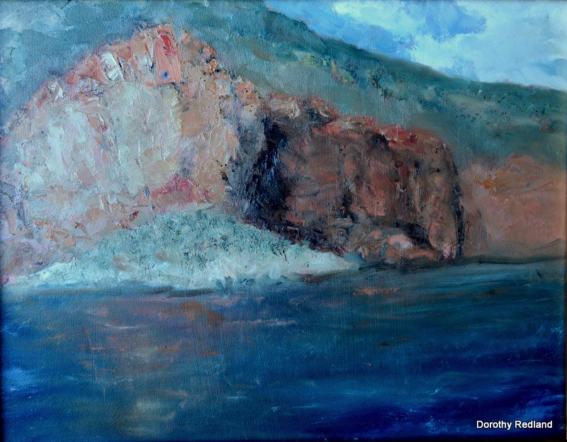 """Yellowtail dam Montana"" original fine art by Dorothy Redland"