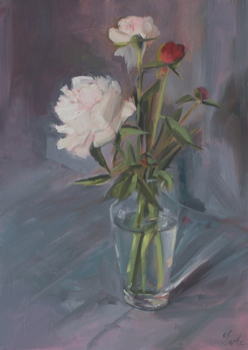 """""""Quelques pivoines"""" original fine art by Evelyne Heimburger Evhe"""