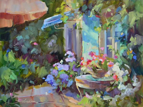 """Morning Glory"" original fine art by Dreama Tolle Perry"