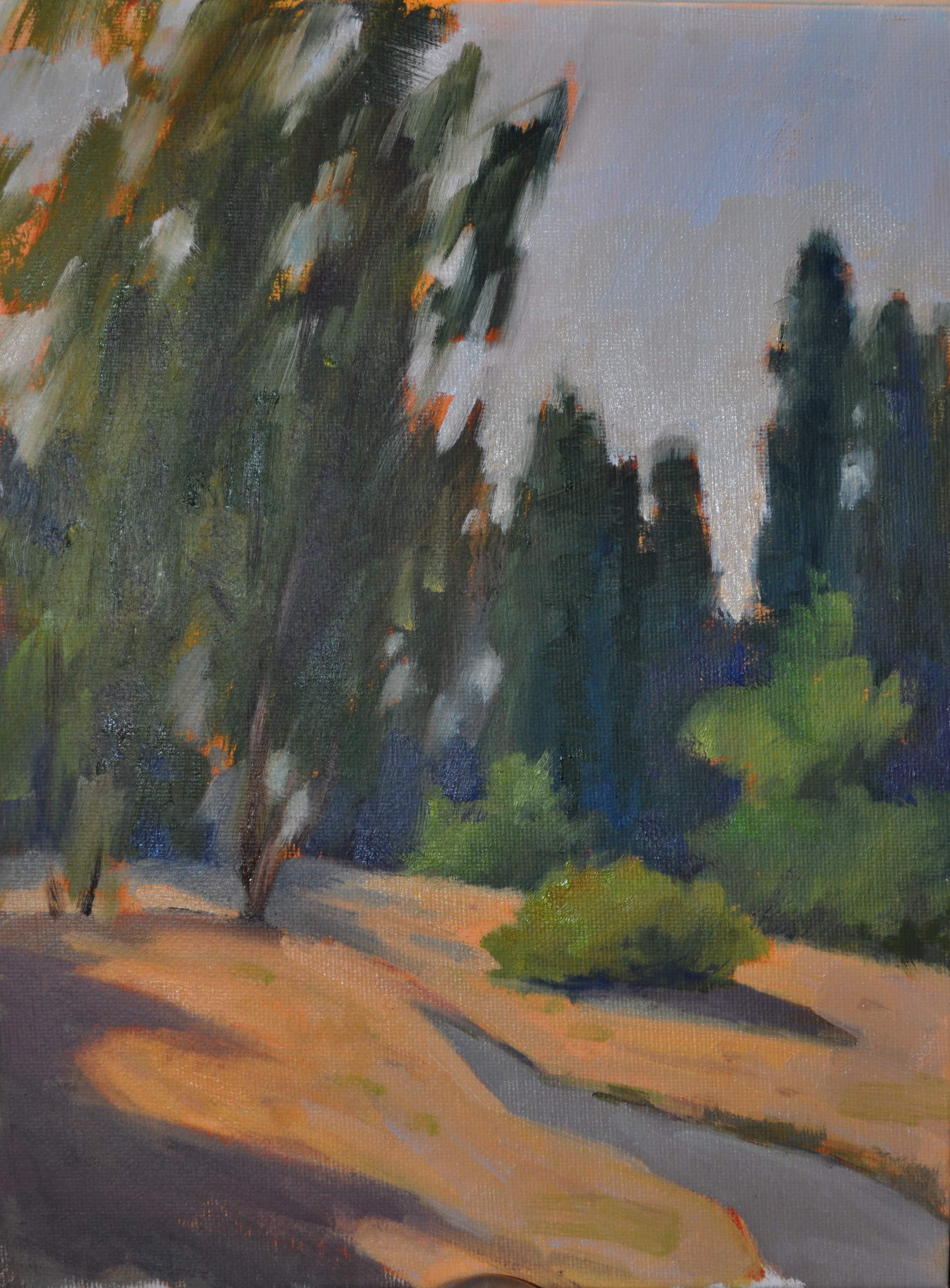"""""""The Birch's Breeze 9x12 oil/board"""" original fine art by Emiliya Lane"""