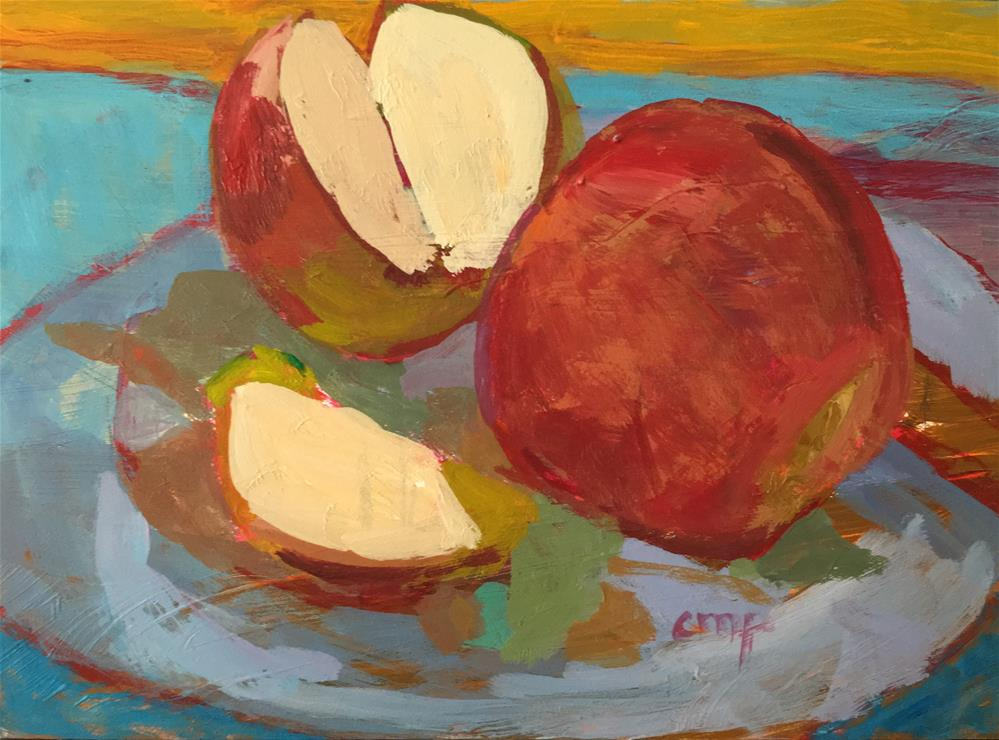 """Apple still life"" original fine art by Christine Parker"