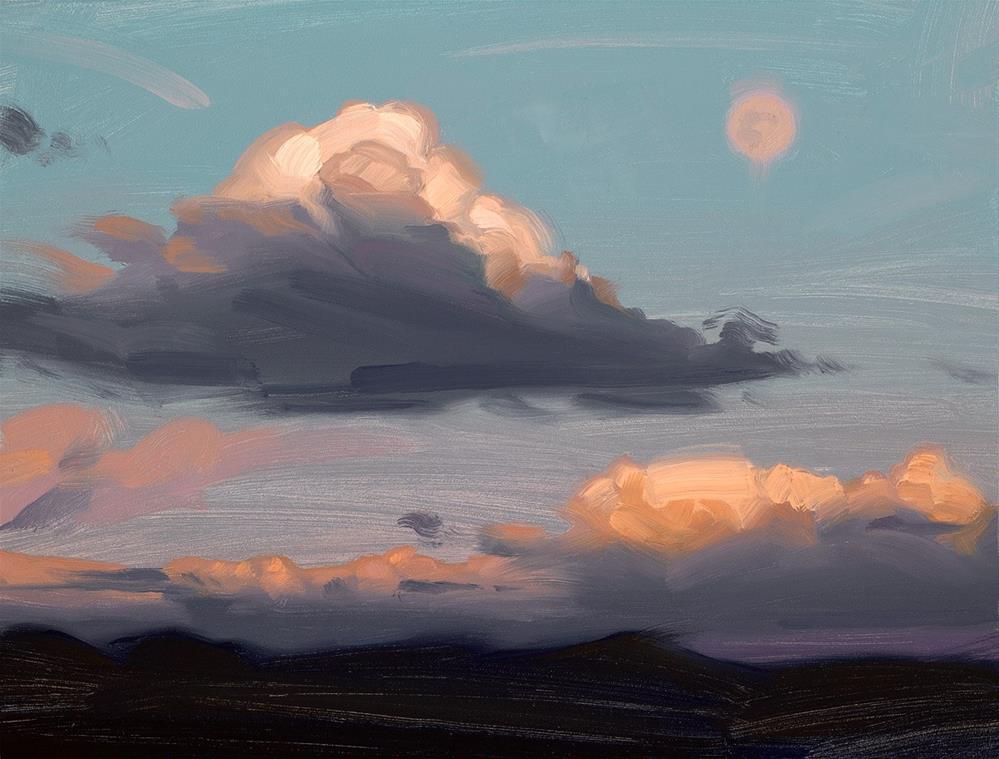 """Moonrise"" original fine art by Rob  Rey"