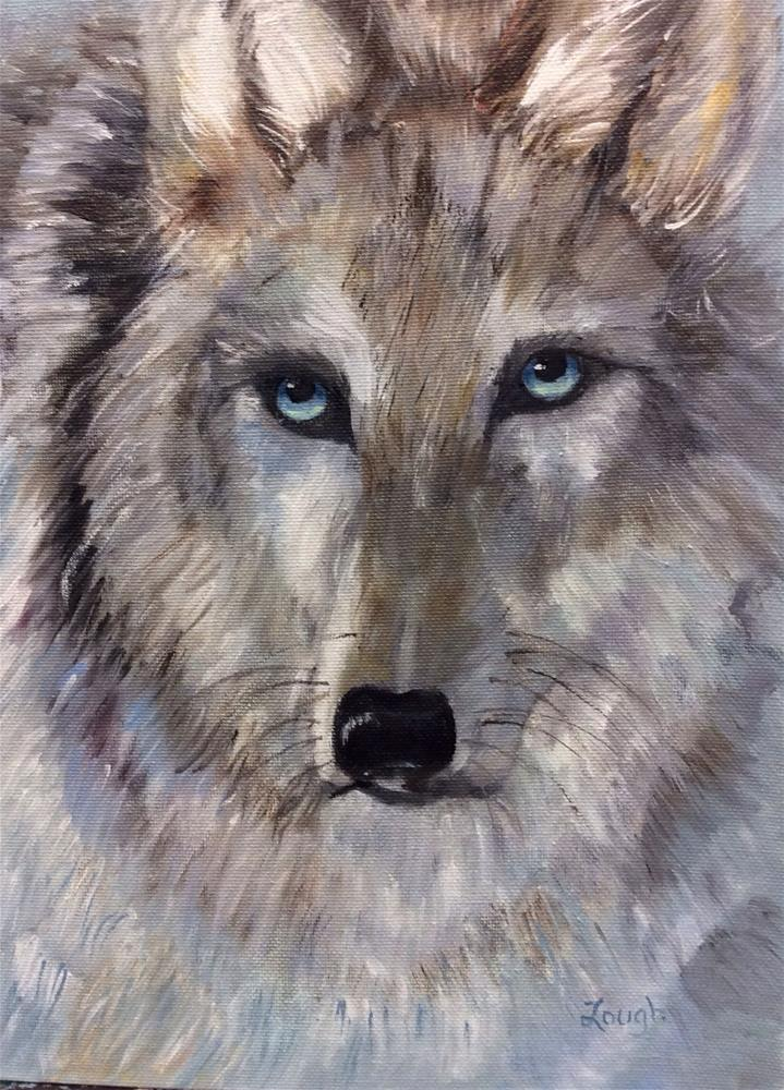 """White Wolf"" original fine art by Charlotte Lough"