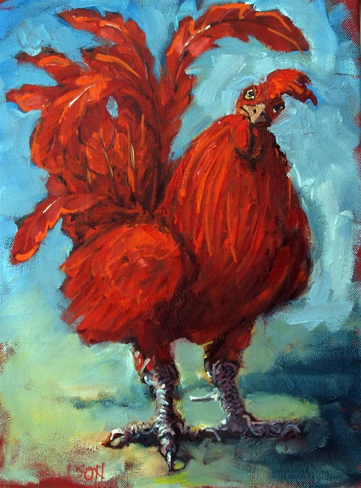 """Proud Rooster"" original fine art by Rick Nilson"