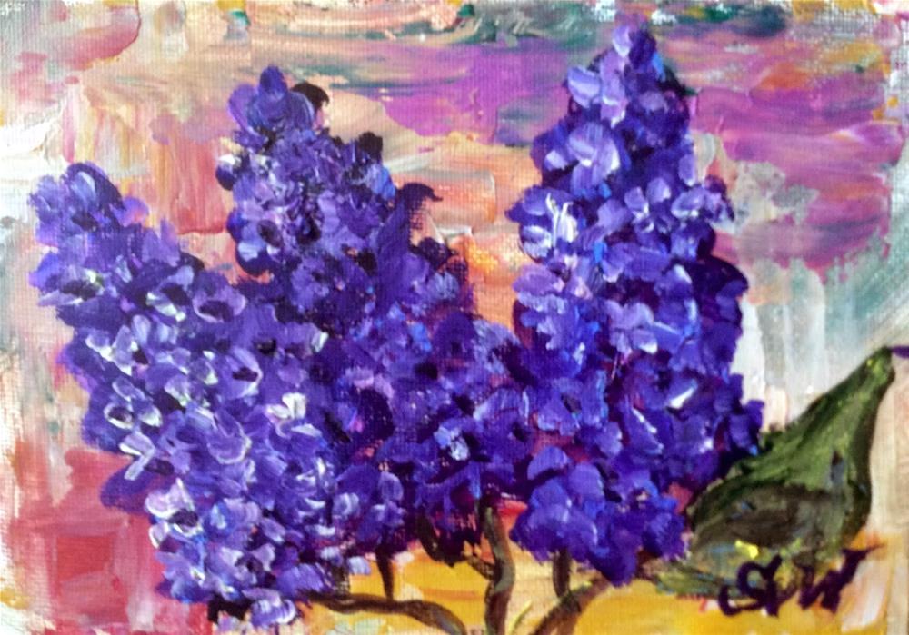 """""""Vibrant lilacs"""" original fine art by Sonia von Walter"""