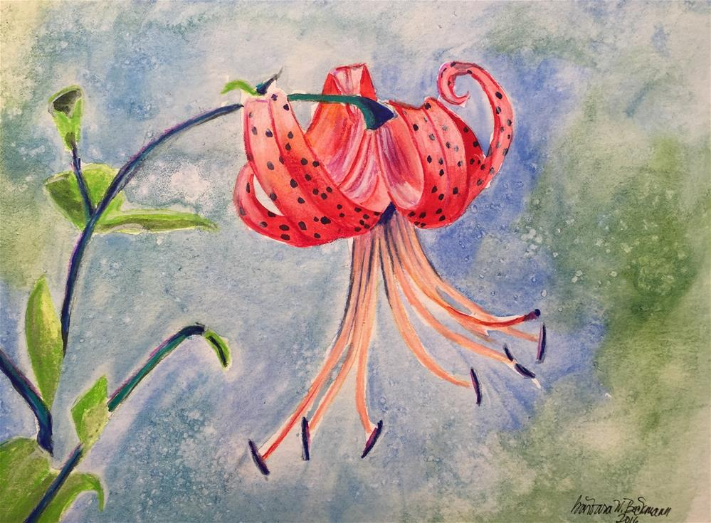 """Wild tiger Lilly"" original fine art by Barbara Beckmann"