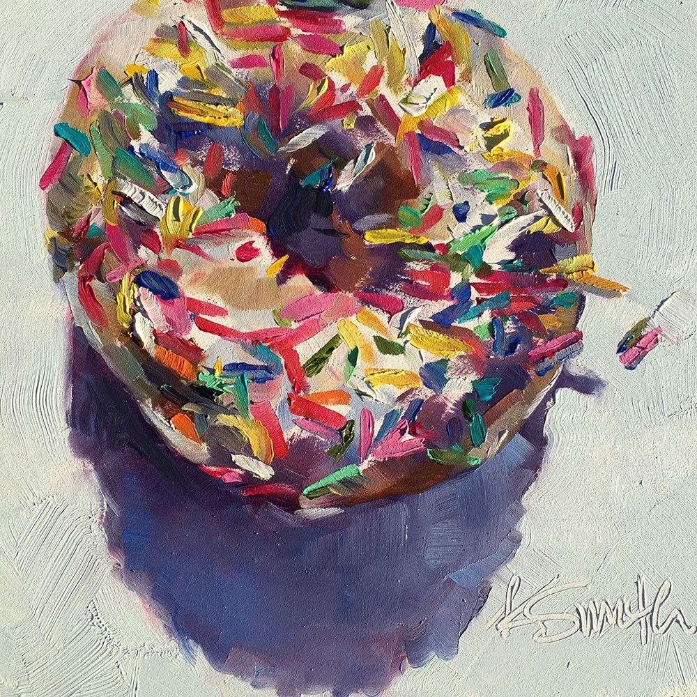 """one donut"" original fine art by Kim Smith"