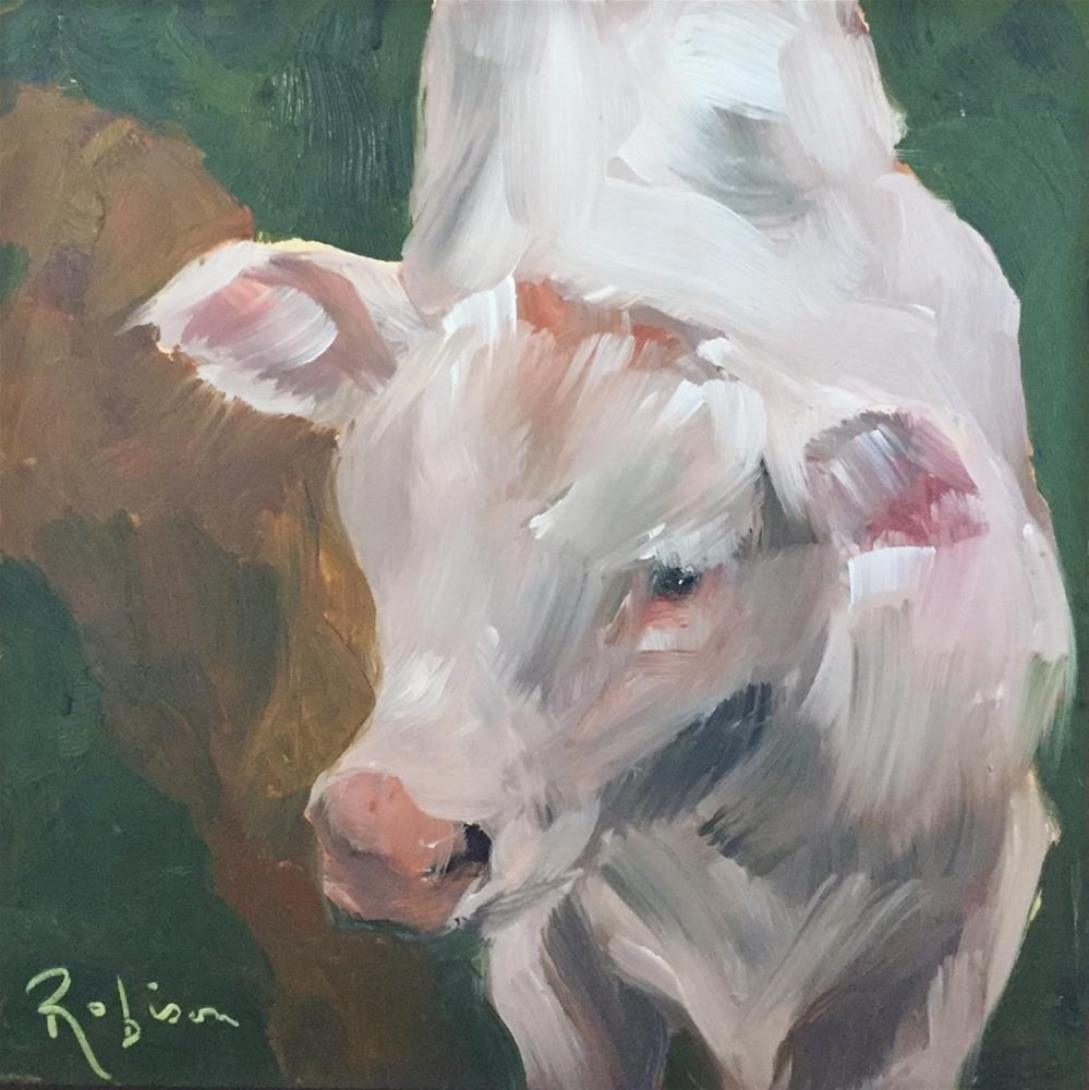 """Brenham Cow #1"" original fine art by Renee Robison"