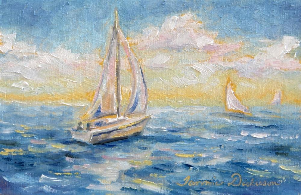"""June Sailing"" original fine art by Tammie Dickerson"