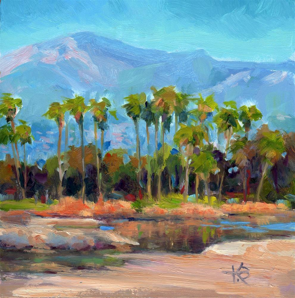 """Santa Barbara Palms"" original fine art by Kathy Bodamer"
