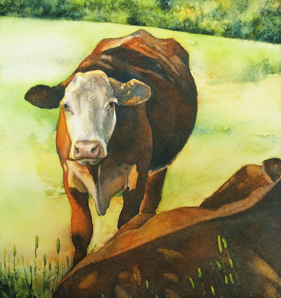 """Salem's Cattle"" original fine art by Kara K. Bigda"