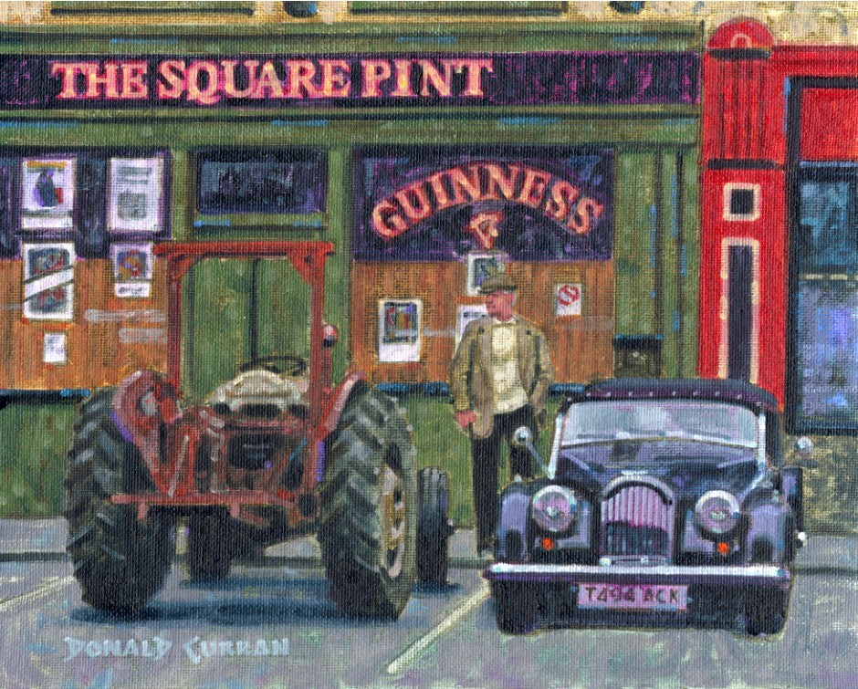 """Square Pint Pub"" original fine art by Donald Curran"