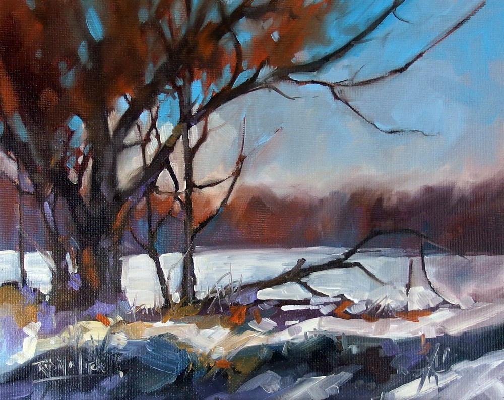 """No 698 Cold Fields"" original fine art by Robin J Mitchell"