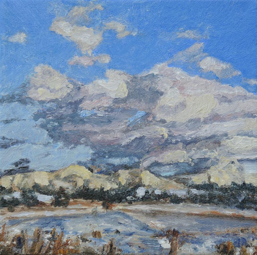 """Winter Sky"" original fine art by Candi Hogan"