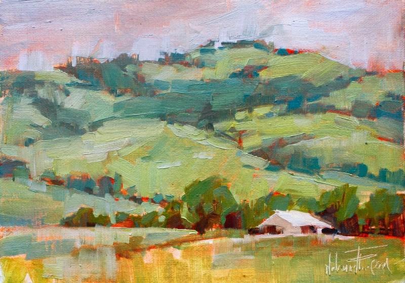 """Barn Under Pikes Peak"" original fine art by Melanie Thompson"