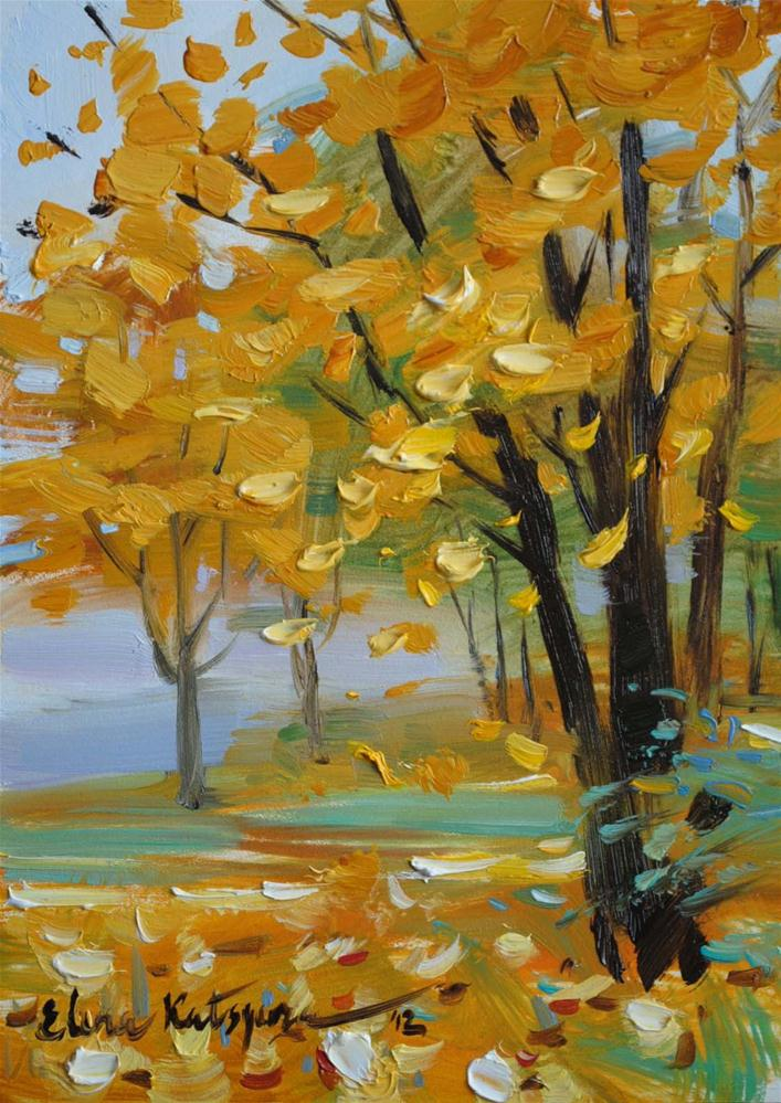 """Autumn Forest"" original fine art by Elena Katsyura"