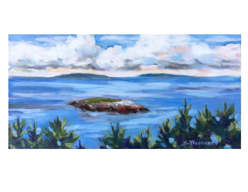 """View From Pebble Beach on Monhegan"" original fine art by Suzanne Woodward"