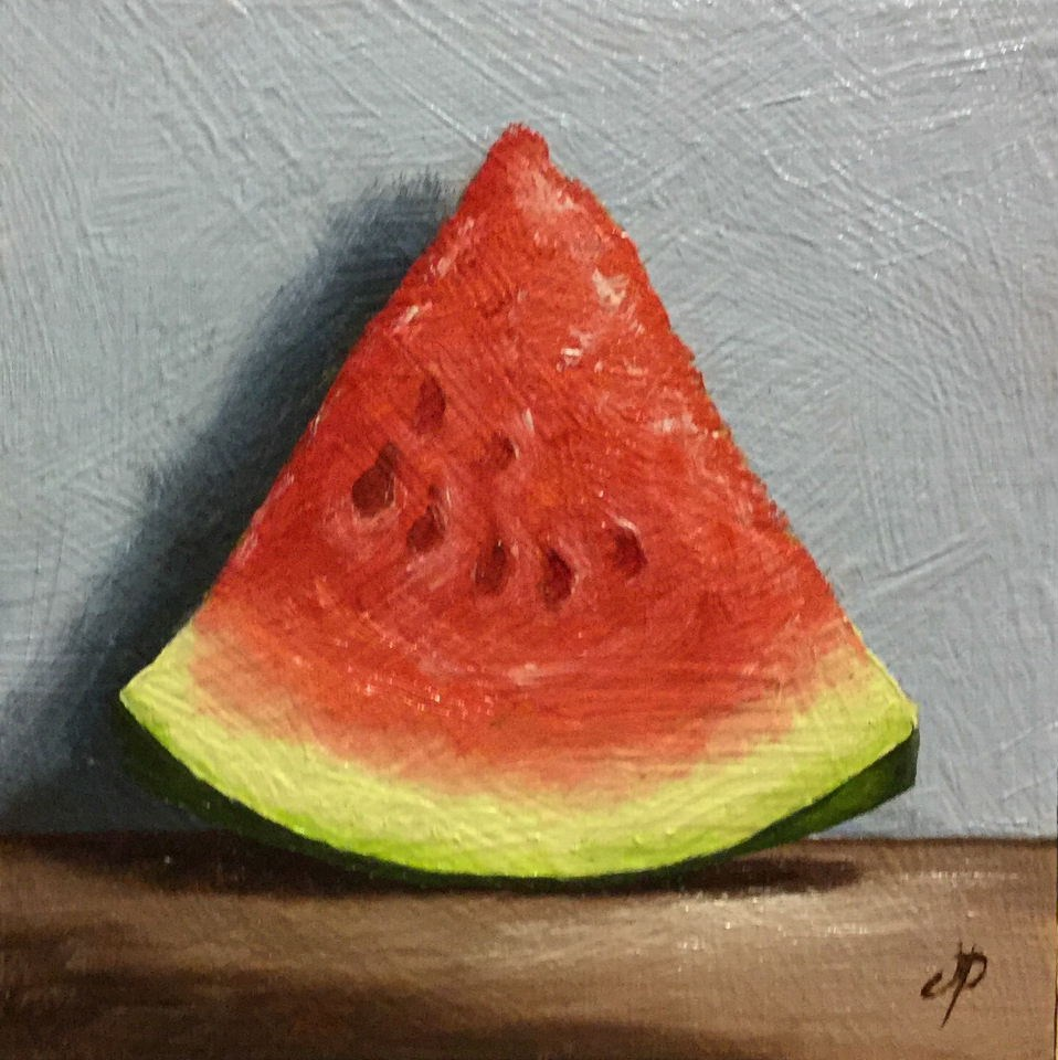 """Watermelon Slice"" original fine art by Jane Palmer"