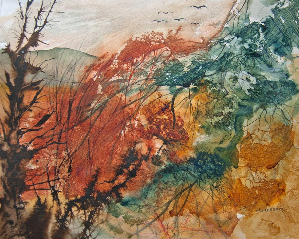 """Tangled Woodland"" original fine art by Jean Lurssen"