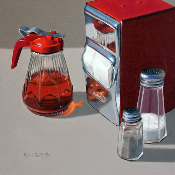 """Maple Syrup with Napkin Holder IV"" original fine art by Nance Danforth"