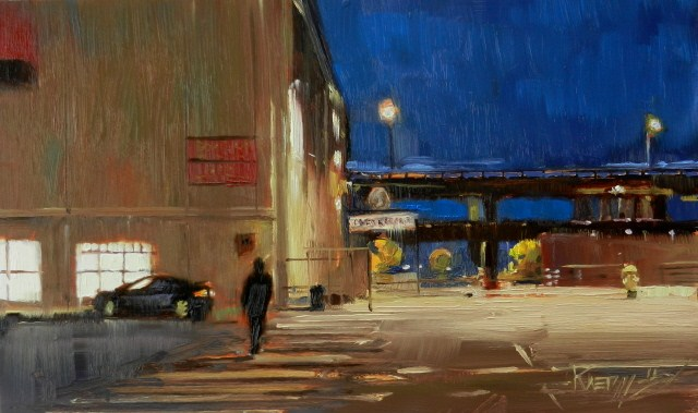 """To the Waterfront Seattle city oil painting by Robin Weiss"" original fine art by Robin Weiss"