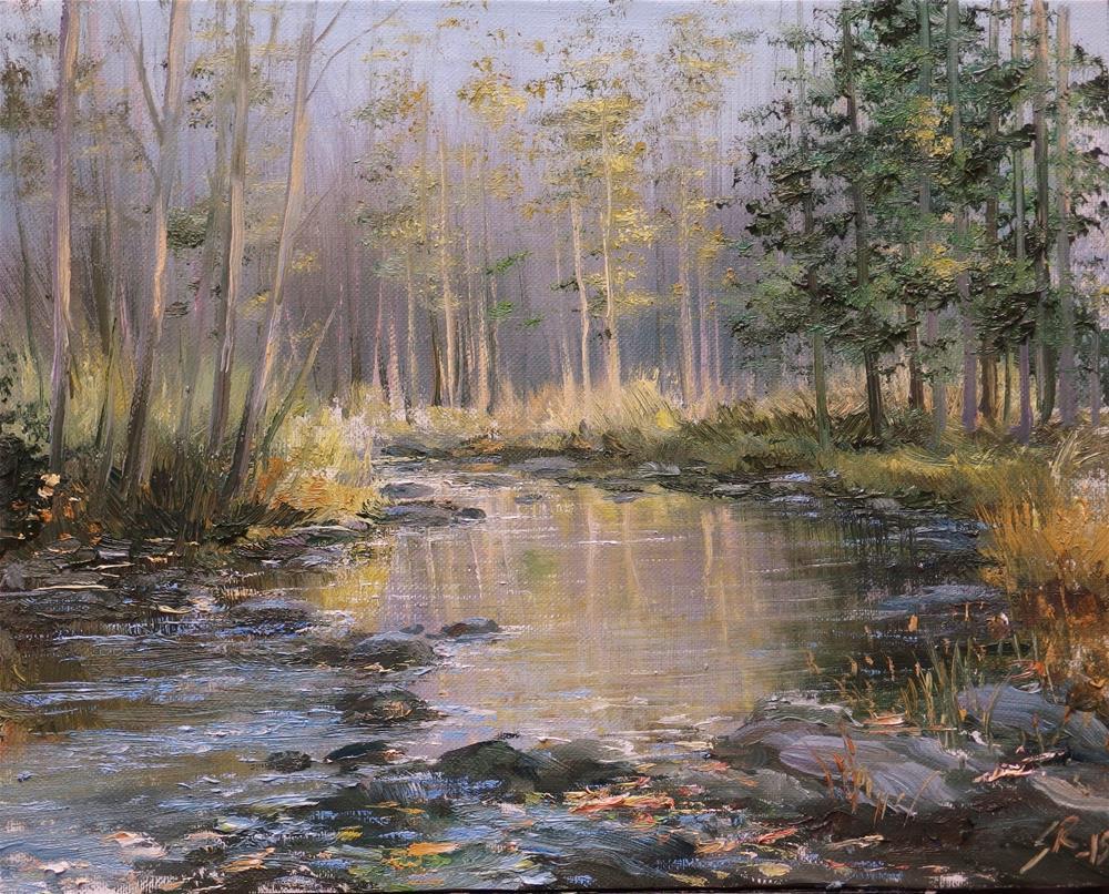 """""""Late fall"""" original fine art by Stig Rosenlund"""