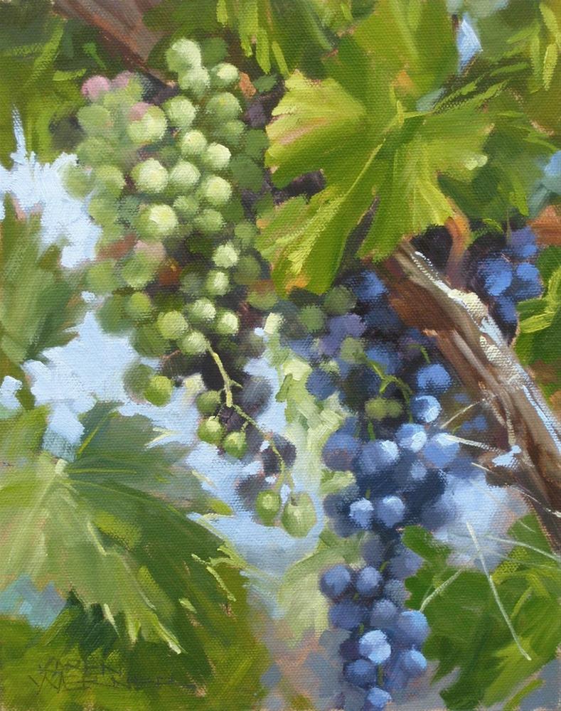 """""""Fruit On The Vine"""" original fine art by Karen Werner"""