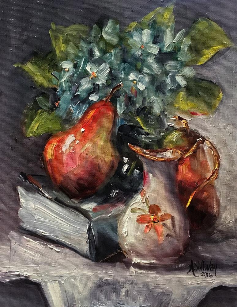 """A Really Good Book still life painting by Alabama Artist Angela Sullivan"" original fine art by Angela Sullivan"