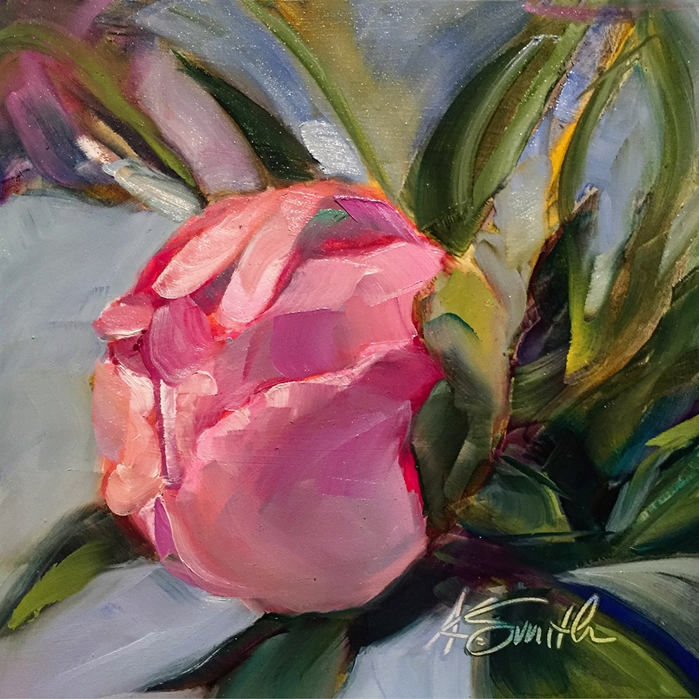 """peony"" original fine art by Kim Smith"
