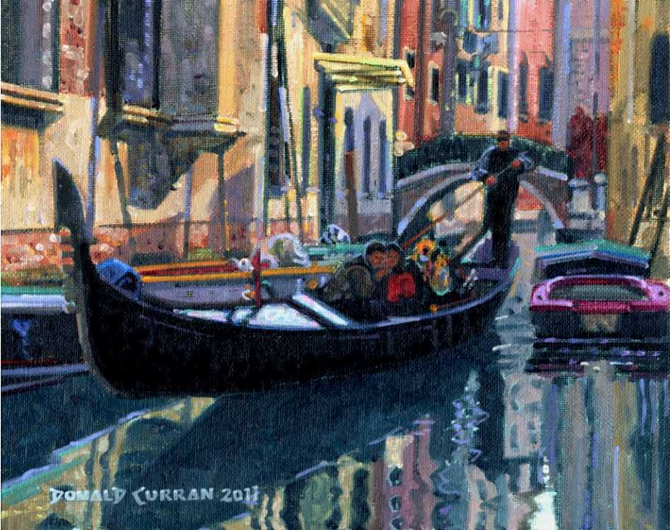 """Venice Gondola"" original fine art by Donald Curran"
