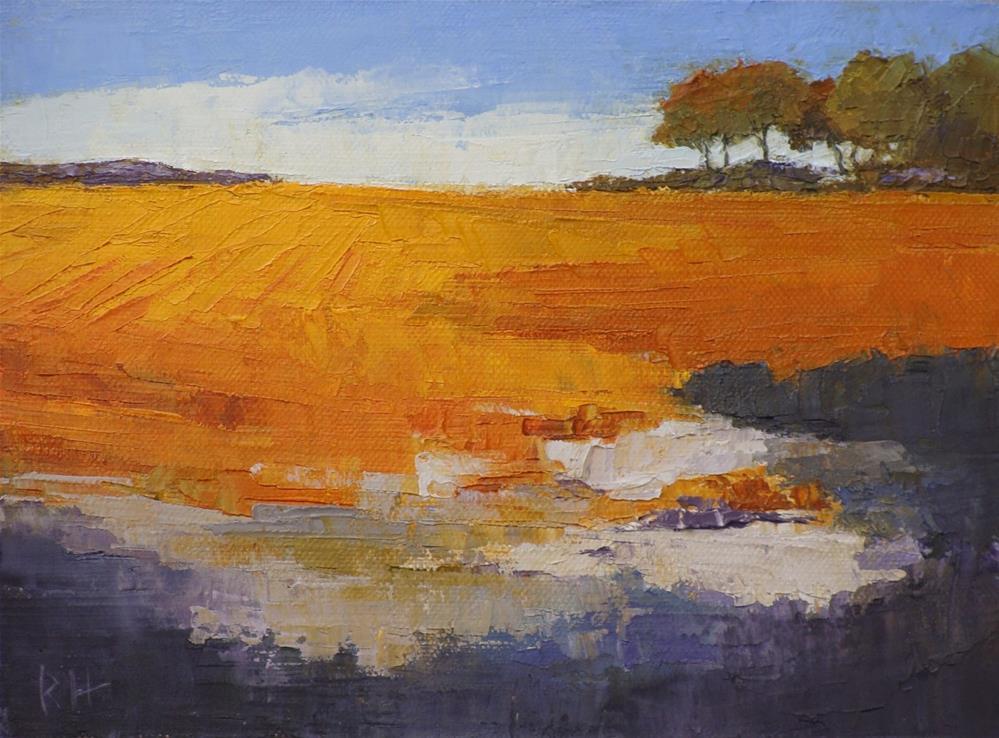 """""""Fall Fields 4"""" original fine art by Rebecca Helton"""