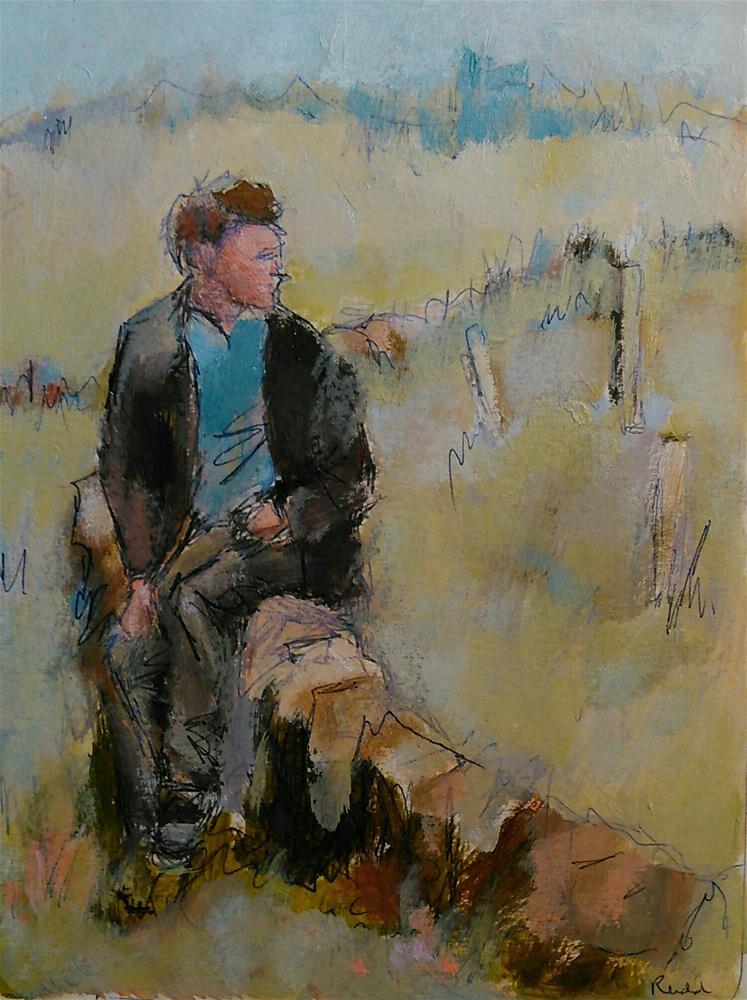 """""""The Welshman"""" original fine art by Ann Rudd"""