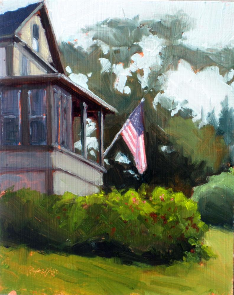 """summer cottage"" original fine art by Dan Graziano"