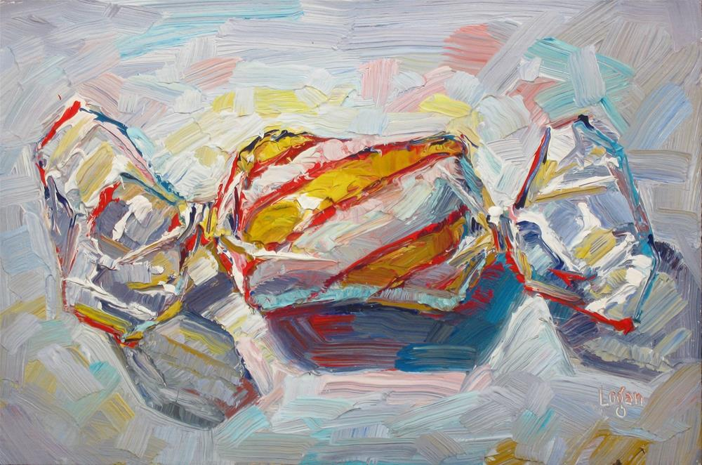 """Candy Striped Yellow, Red, and White"" original fine art by Raymond Logan"