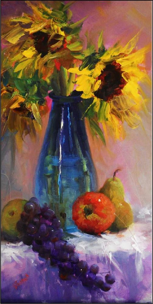 """Sleepyheads with fruit, 12x24, oil on hardwood by Maryanne Jacobsen"" original fine art by Maryanne Jacobsen"