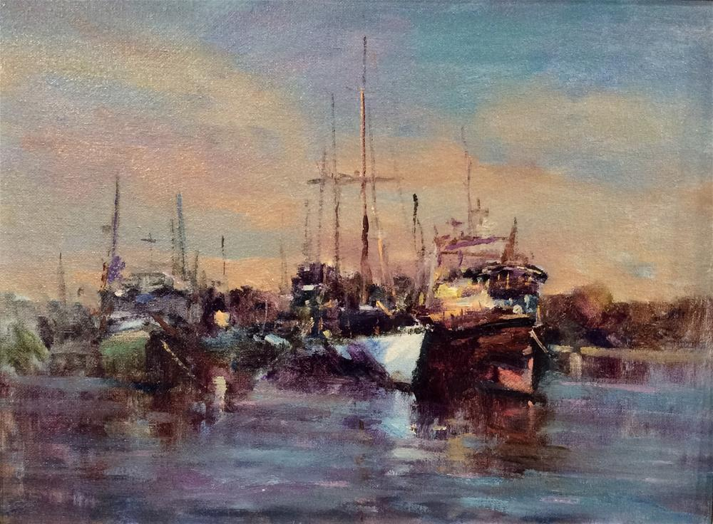 """In The Marina"" original fine art by John Shave"