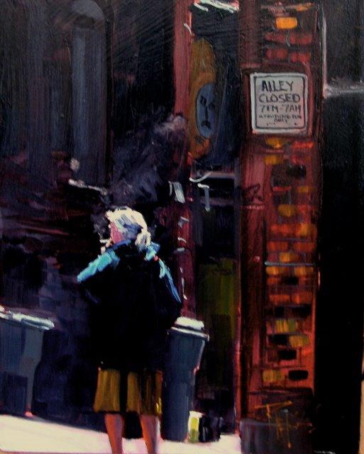 """""""The Smoker"""" original fine art by Robin Weiss"""