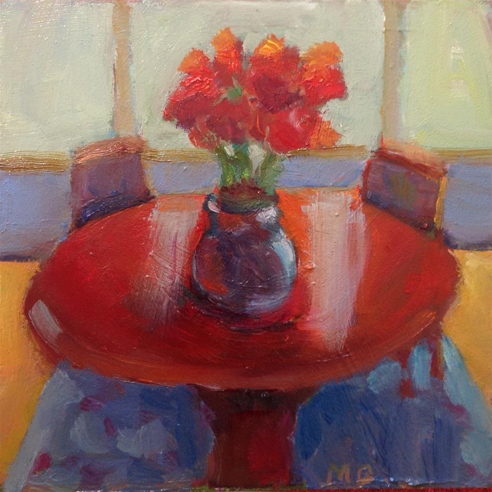 """Amaryllis for Two"" original fine art by Marcia Bergtholdt"
