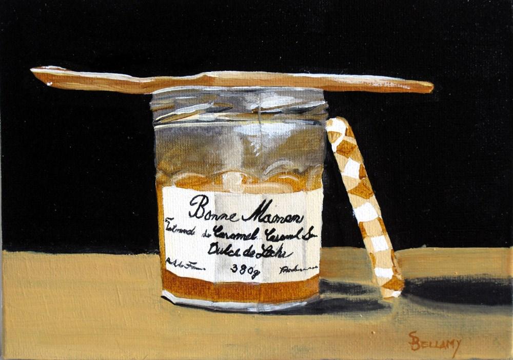 """Dulce de Leches Jar"" original fine art by Sherry Bellamy"