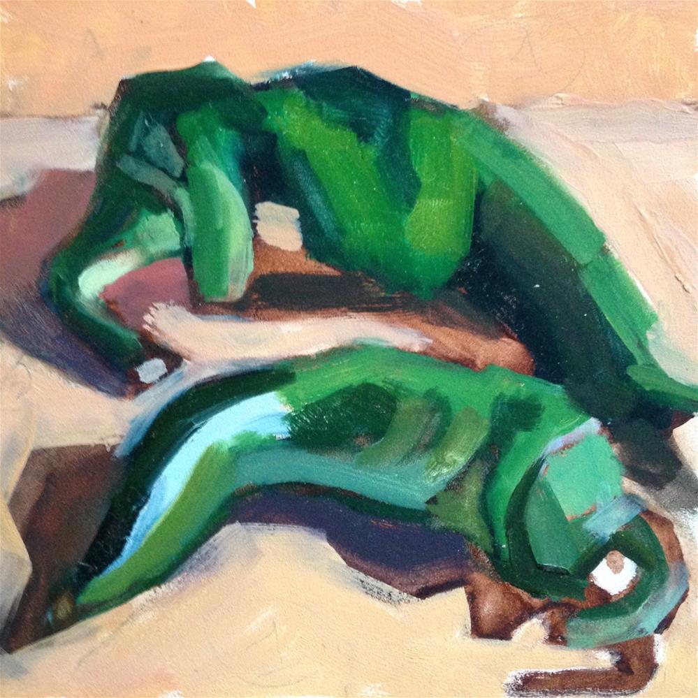 """Old Married Couple"" original fine art by Pamela Hoffmeister"