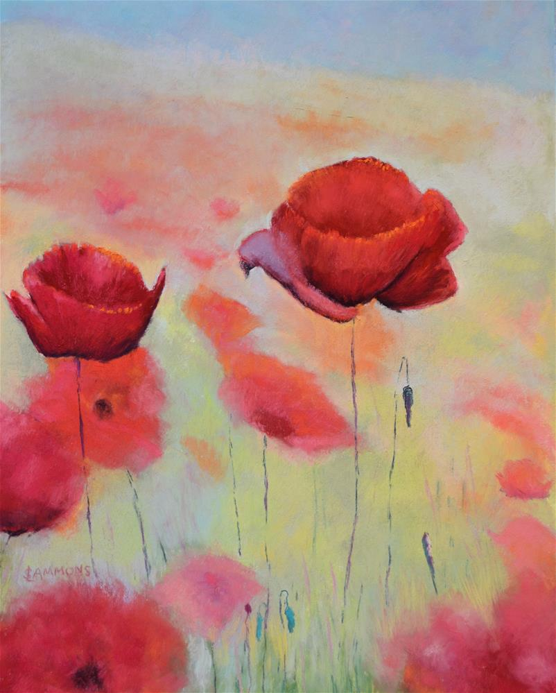 """Poppies for Debbie"" original fine art by Laurie Sammons"