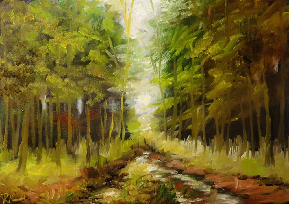 """Old Road in the Woods"" original fine art by Bob Kimball"