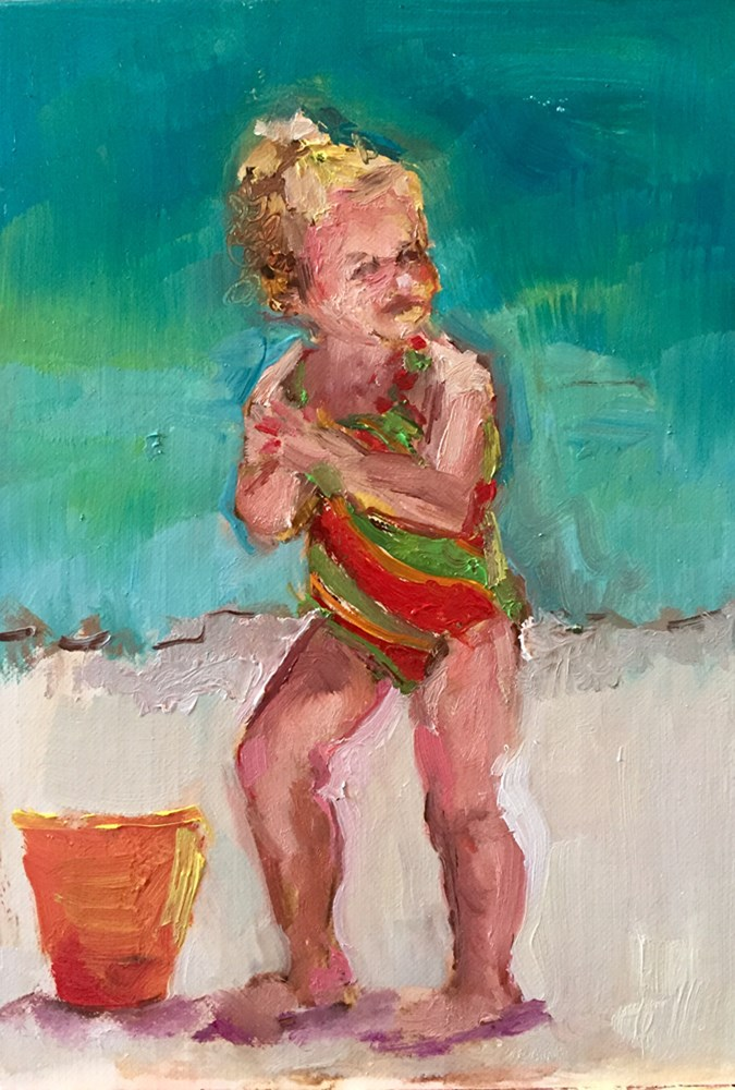 """Little Lily"" original fine art by Marcia Hodges"