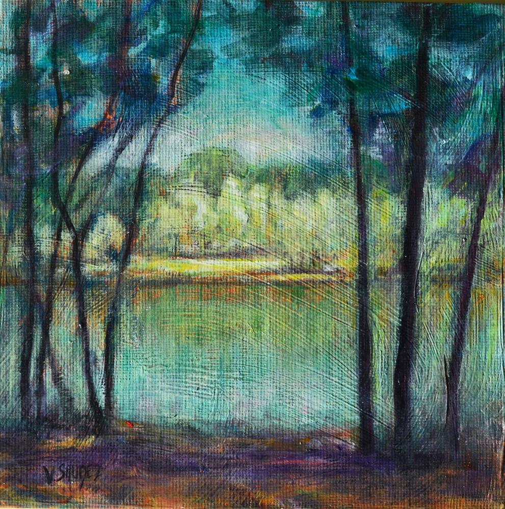 """""""Summer in Ardennes 2"""" original fine art by Véronique Saudez"""